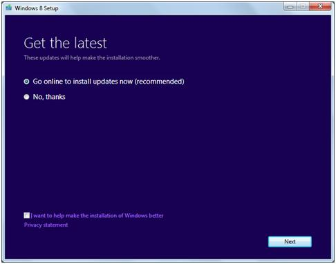 Windows 8 update