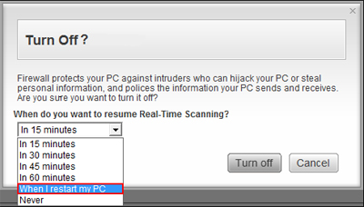 McAfee real time scanning