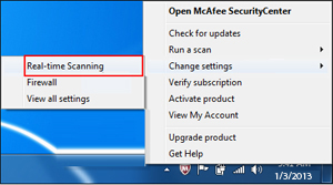 how to disable my mcafee antivirus