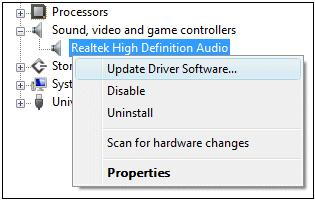 update realtek sound card drivers