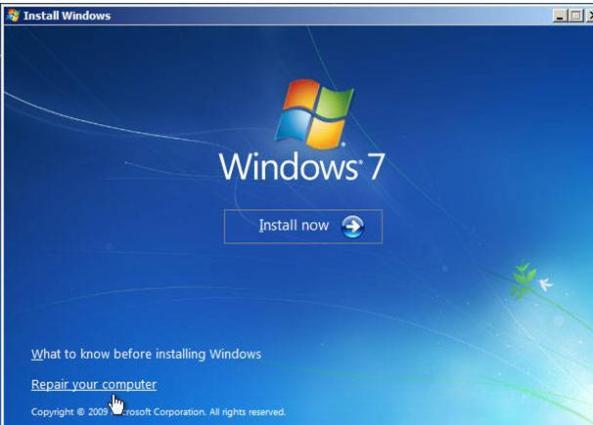 windows7 install now