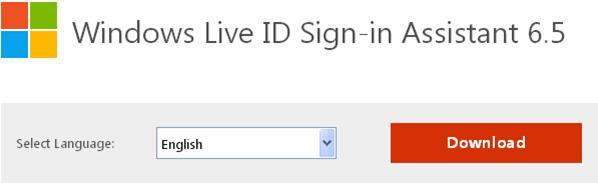 assistant de connexion windows live id 6.5