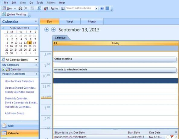 how to create a shared calendar in outlook 2013