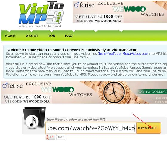musica da youtube online vidtomp3