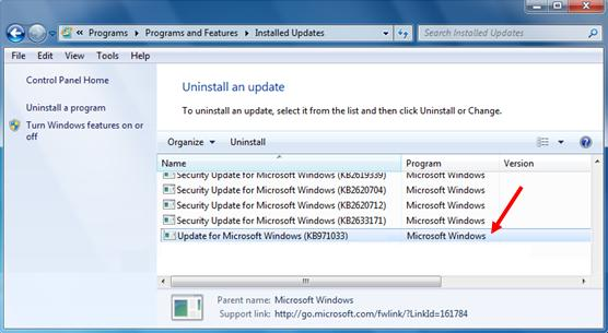 windows update kb971033
