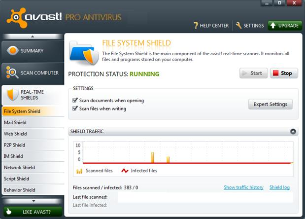 avast security pro cannot connect to service