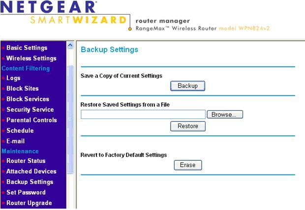 Updating router firmware netgear