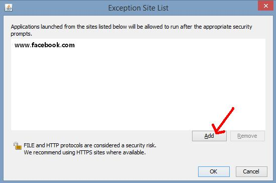 exception-site-list