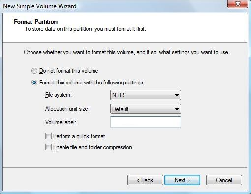 format-new-partition